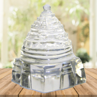 Crystal Sphatik Meru Shree Yantra