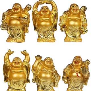 6 pcs laughing buddha
