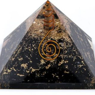 black tourmaline quartz orgonite pyramid