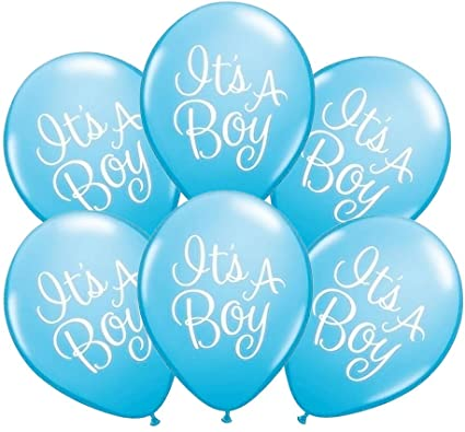 Its is a boy baby printed Letter Balloons - blue